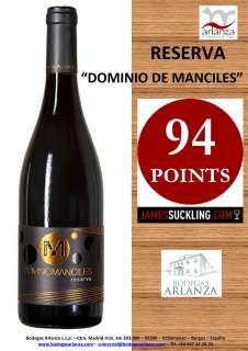 Červené víno Dominio de Manciles, Reserva